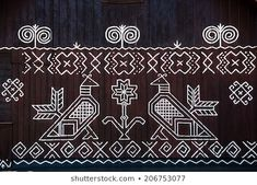 Stock Photo - painted pattern on side of log house in Cicmany, UNESCO World Heritage Site, Slovakia Pattern Art, Pattern Design, Ethnic Patterns, Art Patterns, Mountain Tattoo, Painting Patterns, Log Homes, World Heritage Sites, Folk Art