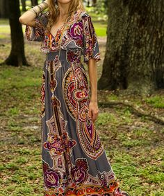 Love this Charcoal Arabesque Maxi Dress by Cristina Love on #zulily! #zulilyfinds