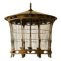 Antique and Vintage Bird Cages - 104 For Sale at The bird cage is both a property for your birds and a cosmetic tool. You can choose anything you need among the bird cage models and get much more unique images. Birdcage Chandelier, Antique Bird Cages, The Caged Bird Sings, Chicken Cages, Wood Bird, Bird Skull, Oriental Fashion, Oriental Style, Vintage Birds