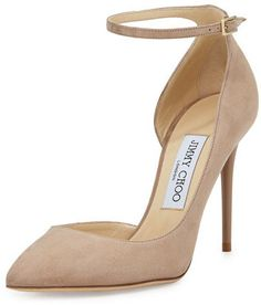 4f4c72539b7 Lucy Half-d  Orsay Suede Pump by Jimmy Choo at Neiman Marcus.