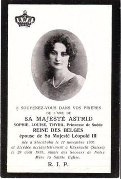 Mass programme of Astrid's funeral