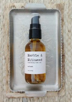 coming soon to the shop! Autumn nourishing body oil - limited edition | Marble & Milkweed