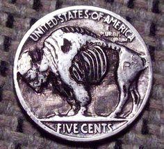 Zombie Buffalo Hobo Nickel