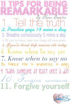 I LOVE Elena Brower! Great tips!