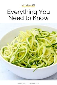 Find out everything you need to know about how to make and how to cook, zucchini noodles in this easy Zoodles 101. Zucchini noodles are great as they're a gluten-free, low carb, low calorie, nutrient dense alternative to pasta, and super simple to make! Check out the video to see how it's done! Healthy Summer Recipes, High Protein Recipes, Vegan Vegetarian, Vegetarian Recipes, Clean Eating Guide, Clean And Delicious, Zoodle Recipes, Healthy Habits, Healthy Life