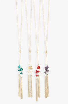 Cara Accessories Tassel Y-Necklace | Nordstrom