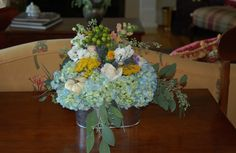 Console table arrangement