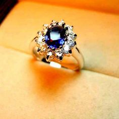 Exquisite Style Rhinestone and Crystal Embellished Women's Ring, BLUE, ONE SIZE in Rings   DressLily.com
