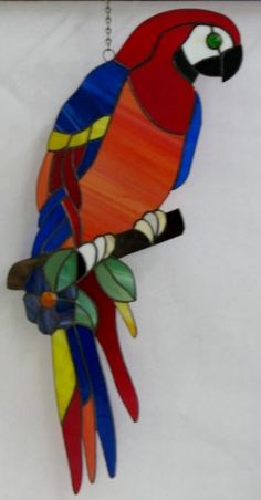 Stained glass Parrot freeform [parrotfreeform] - $125.00 : Glass Moose Cart, handcrafted glass, beads/supplies, jewelry, wood & metal art, signs