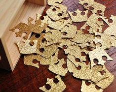 Koninklijke Prins babydouche decoraties. Handgemaakt in 3-5 werkdagen. Kroon Confetti 50CT.