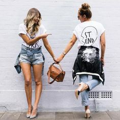 Best Friends T-Shirt Casual Heart Shirt Top Buy 1 for you and buy 1 for your Best Friend! Free Shipping! Check out our other Friends stuff in our store www.ScruffyChicGirl.com Are you and your bestie like Thelma and Louise? Then check out these gifts! Each sold individually Pick your size from the size chart Material: Cotton Blend Sleeve Length: Short Decoration: Appliques Clothing Length: Regular Collar: O-Neck Sleeve Style: Regular Best Friends T-Shirt Casual Heart Shirt Top