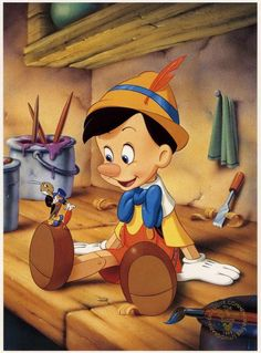 Walt Disney Masterpiece Pinocchio Commemorative Exclusive 1993 Lithograph NEW Disney Pixar, Disney Animation, Pinocchio Disney, Disney Cartoons, Disney Art, Disney Characters, Funny Disney, Disney Dream, Disney Love