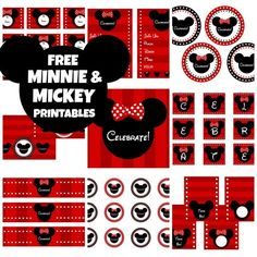 Free Minnie Mouse printables! | CatchMyParty.com