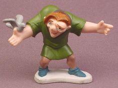 "Disney Hunchback of Notre Dame Quasimodo With Bird PVC Figure on Base, 2"" tall"