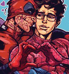 Peter Parker (Spiderman) x Wade Wilson (Deadpool)
