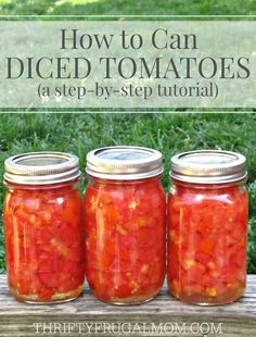 This easy step-by-step photo tutorial will have you saving money and canning you. - This easy step-by-step photo tutorial will have you saving money and canning your own diced tomato - Canning Tips, Home Canning, Tomato Canning Recipes, Canning Tomato Juice, Canning Salsa, Canned Tomato Sauce, Tomato Soup, Garden Tomato Recipes, Homemade Tomato Juice