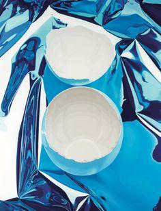 Jeff Koons - Artwork: Cracked Egg: oil on canvas. Kitsch, Michael Jackson And Bubbles, Jeff Koons Art, Hirst Arts, Cracked Egg, Balloon Dog, Damien Hirst, A Level Art, Blue Painting