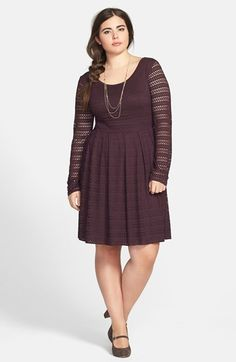 #Eight Sixty              #Dresses                  #Eight #Sixty #Perforated #Flare #Dress #(Plus #Size) #Eggplant               Eight Sixty Perforated Fit & Flare Dress (Plus Size) Eggplant 2X                                        http://www.snaproduct.com/product.aspx?PID=5301550