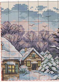 Зимняя картина крестом | Жозефина
