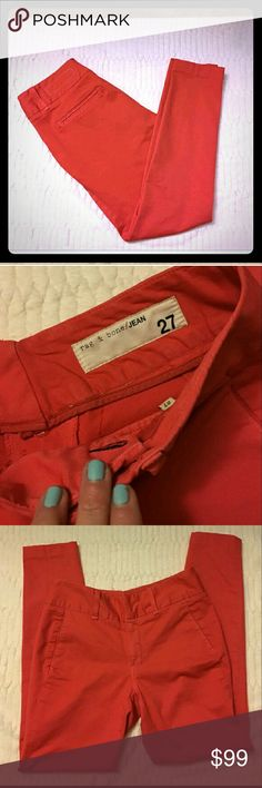 Rag and bone cotton stretch pants jeans Fruit punch pink. Size 27. 27 inch inseam. Excellent condition. rag & bone Jeans