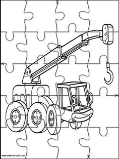 Printable jigsaw puzzles to cut out for kids Bob the Builder 45 Coloring Pages