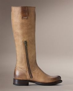 """Frye boots """"Jenna Inside Zip"""" in sand"""
