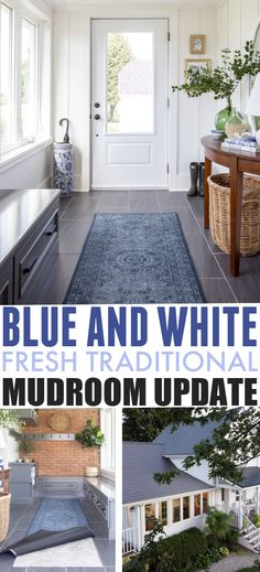 Blue and White Mudroom Update | The Creek Line House Modern Farmhouse Decor, Vintage Farmhouse, Solid Wood Table, Dose Of Colors, Through The Window, Affordable Home Decor, Rustic Table, Home Pictures, Home Decor Items