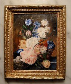 Barbara Wilson, IGMA artisan - Oil Painting, After Original by Jan Van Huysum; sold on ebay for $170.27