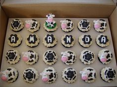 21st Birthday Cupcakes, Cow Birthday Parties, Guys 21st Birthday, Farm Birthday, Birthday Cakes, Cow Cupcakes, Cupcake Cakes, Sorority Gifts, Baby Party