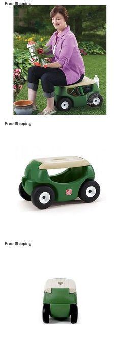 Garden Kneelers Pads And Seats 75669: Wheeled Garden Seat Hopper Gardening  Work Cart Tool Storage