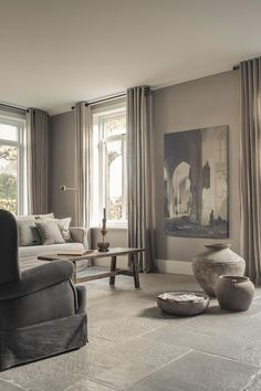 Hoffz-Interieur - Heike Weber - Home and garden - Dekoration Germany Home Living Room, Living Room Decor, Living Spaces, Home Interior, Interior Design, Decoration Chic, Decorations, Home Furniture, Family Room