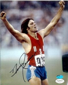Bruce Jenner -Decathlon Gold Medalist - USA When Bruce Jenner was cute and not ALL nipped and tucked. C'=