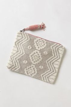Anthropologie	Geo Beaded Pouch