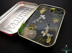 bon-appeteats:  bon-appeteats:  A one of a kind large Altoids tin koi pond is now available on eBay! It features two koi fish (one black and white, one calico), a turtle, and a frog, all hand sculpted from polymer clay. It also has some underwater plants, stones, and a crushed slate substrate. The eBay listing is now live. Good luck to those bidding! :)  Just a quick reminder that the auction is ending today if anyone was still interested. I just want to thank everyone who has bid. This has…