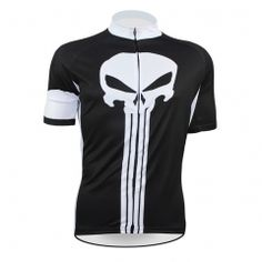 Alien SportsWear Skull Pattern Men top Sleeve Cycling Jersey Spring And  Summer Bike Shirt Black Bicycle Clothing Size ILP ba691eea3