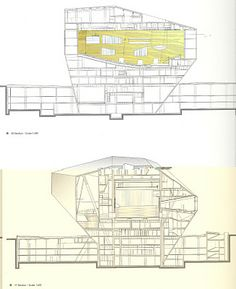Casa de Musica, Porto: Drawings, Plans, Sections,