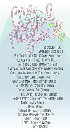 Girls Weekend Playlist | studiodiy.com