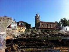 Iglesia de santa María de Luanco vista desde el muelle. www.casaspradina.com