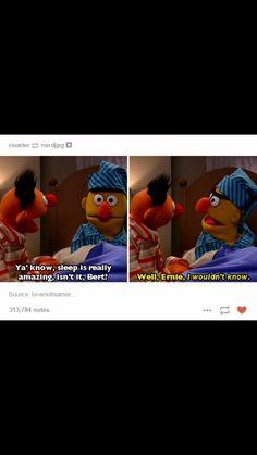 I LOVE ERNIE AND BERT