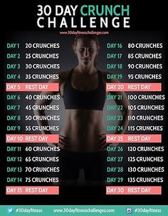 30 day cruch challenge | via Tumblr