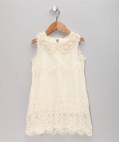 Look what I found on #zulily! Ivory Lace Sheath Dress - Toddler & Girls by Sweet Charlotte #zulilyfinds