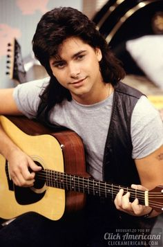 """Uncle Jesse on """"Full House"""", young John Stamos. John Stamos Young, Young John, Jesse From Full House, Tio Jesse, Ted Mosby, Paddy Kelly, Mullets, Celebs, Celebrities"""
