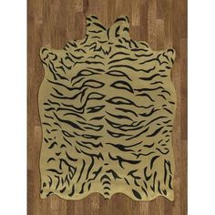 Acura Rugs Animal Hide Yellow/Black Tiger Area Rug Rug Size: 5' x 7'
