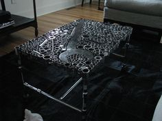 """""""Socket to me"""" table.....  A Day's Worth of Inspiration – Repurposed DIY"""