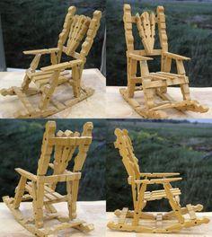 Mandallardan Yapılmış Süs Sallanan Sandalye