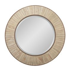 Could be really cool over fireplace. A good match?? allen   roth�32-in x 32-in Nature Wood Round Framed Wall Mirror