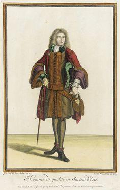 1684, France, Paris - Recueil des modes de la cour de France, 'Homme de Qualité en Surtout d'Esté'