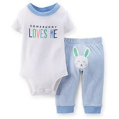 79140d042 Carter's Some Bunny Loves Me Bodysuit and Pant Set is super-cute and cozy  wear for your little guy on Easter. The adorable theme features colorful,  ...