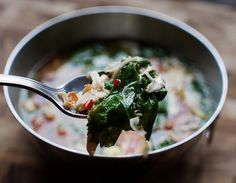 Asian Crab Soup with Chicken and Mustard Greens