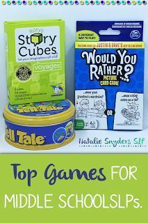 The best speech-language therapy games for middle school SLPs! Speech Activities, Speech Therapy Activities, Speech Language Therapy, Speech And Language, Speech Pathology, Language Activities, Articulation Therapy, Articulation Activities, Work Activities